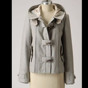 Anthropologie Elevenses First Frost Coat Sz 10